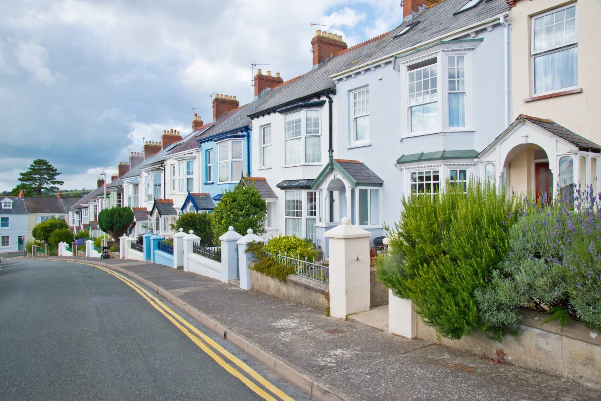 Colourful old terraced houses